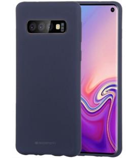 """Tamsiai mėlynas silikoninis dėklas Samsung Galaxy S10 telefonui """"Mercury Soft Feeling"""""""