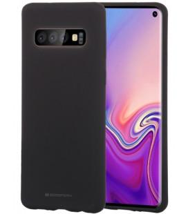 """Juodas silikoninis dėklas Samsung Galaxy S10 telefonui """"Mercury Soft Feeling"""""""