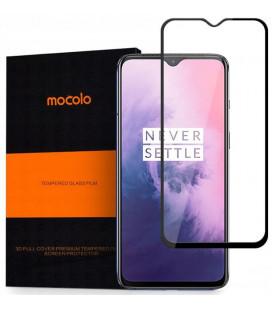 """Juodas apsauginis grūdintas stiklas Oneplus 7 telefonui """"Mocolo"""""""