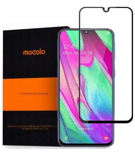 """Juodas apsauginis grūdintas stiklas Samsung Galaxy A40 telefonui """"Mocolo"""""""