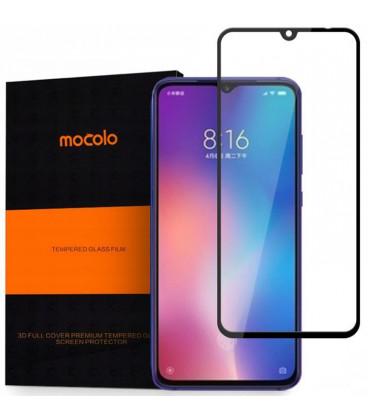 """Juodas apsauginis grūdintas stiklas Xiaomi Mi9 SE telefonui """"Mocolo"""""""