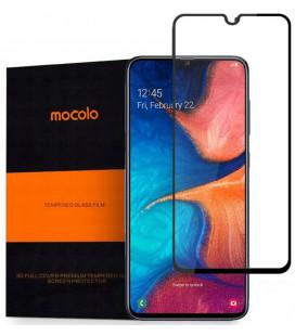 """Juodas apsauginis grūdintas stiklas Samsung Galaxy A20E telefonui """"Mocolo"""""""
