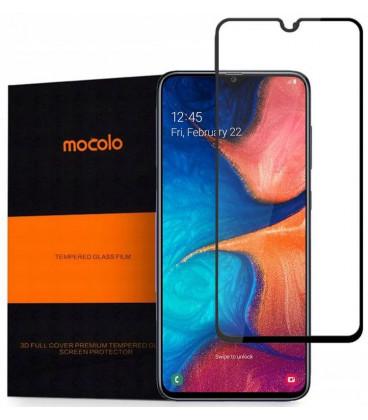 """Juodas apsauginis grūdintas stiklas Samsung Galaxy A10 telefonui """"Mocolo"""""""