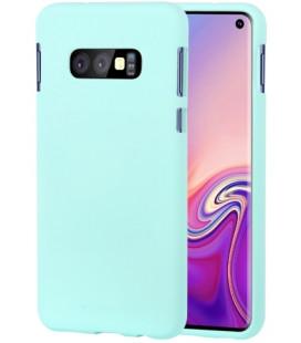 """Mėtos spalvos silikoninis dėklas Samsung Galaxy S10E telefonui """"Mercury Soft Feeling"""""""