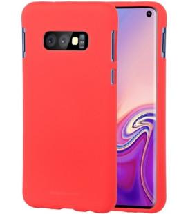 """Raudonas silikoninis dėklas Samsung Galaxy S10E telefonui """"Mercury Soft Feeling"""""""