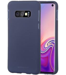 """Tamsiai mėlynas silikoninis dėklas Samsung Galaxy S10E telefonui """"Mercury Soft Feeling"""""""
