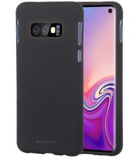 """Juodas silikoninis dėklas Samsung Galaxy S10E telefonui """"Mercury Soft Feeling"""""""