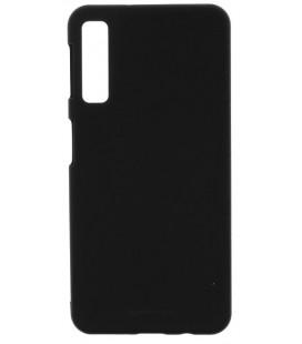 """Juodas silikoninis dėklas Samsung Galaxy A7 2018 telefonui """"Mercury Soft Feeling"""""""
