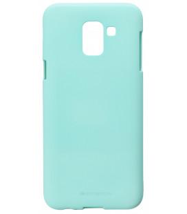 """Mėtos spalvos silikoninis dėklas Samsung Galaxy J6 2018 telefonui """"Mercury Soft Feeling"""""""