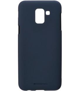 """Tamsiai mėlynas silikoninis dėklas Samsung Galaxy J6 2018 telefonui """"Mercury Soft Feeling"""""""