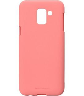"""Rožinis silikoninis dėklas Samsung Galaxy J6 2018 telefonui """"Mercury Soft Feeling"""""""