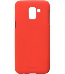 """Raudonas silikoninis dėklas Samsung Galaxy J6 2018 telefonui """"Mercury Soft Feeling"""""""