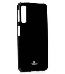 """Juodas silikoninis dėklas Samsung Galaxy A7 2018 telefonui """"Mercury Goospery Pearl Jelly Case"""""""