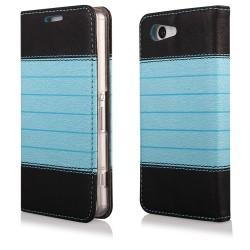 "Juodas-mėlynas atverčiamas dėklas Sony Xperia Z3+ telefonui ""Flip Case Double"""