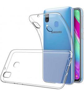 """Skaidrus silikoninis dėklas Samsung Galaxy A40 telefonui """"Clear"""""""