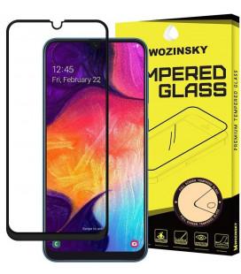 """Juodas apsauginis grūdintas stiklas Samsung Galaxy A40 telefonui """"Wozinsky Full Glue CF"""""""