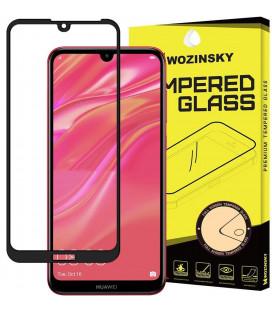 """Juodas apsauginis grūdintas stiklas Huawei Y5 2019 telefonui """"Wozinsky Full Glue CF"""""""