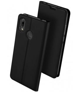 """Juodas atverčiamas dėklas Huawei Y7 2019/Y7 Prime 2019 telefonui """"Dux Ducis Skin"""""""