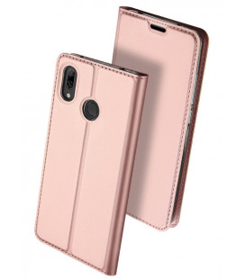 """Rausvai auksinės spalvos atverčiamas dėklas Huawei Y7 2019/Y7 Prime 2019 telefonui """"Dux Ducis Skin"""""""
