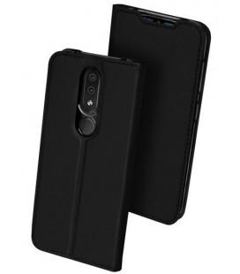 """Juodas atverčiamas dėklas Nokia 4.2 telefonui """"Dux Ducis Skin"""""""
