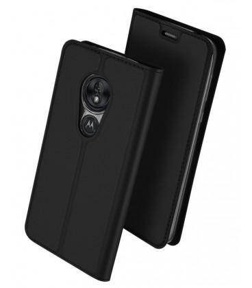 """Juodas atverčiamas dėklas Motorola Moto G7 Power telefonui """"Dux Ducis Skin"""""""