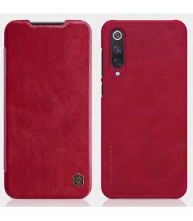 """Odinis raudonas atverčiamas dėklas Xiaomi Mi9 SE telefonui """"Nillkin Qin"""""""