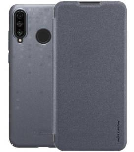 """Atverčiamas pilkas dėklas Huawei P30 Lite telefonui """"Nillkin Sparkle"""""""