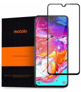 """Juodas apsauginis grūdintas stiklas Samsung Galaxy A70 telefonui """"Mocolo"""""""