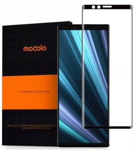 """Juodas apsauginis grūdintas stiklas Sony Xperia 1 telefonui """"Mocolo"""""""