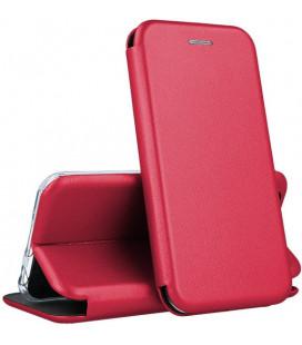 """Raudonas (Vyno) atverčiamas dėklas Samsung Galaxy A10 telefonui """"Book Elegance"""""""