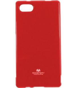 "Raudonas dėklas Mercury Goospery ""Jelly Case"" Sony Xperia Z5 Compact telefonui"
