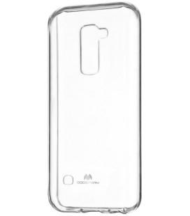 """Skaidrus dėklas Mercury Goospery """"Jelly Case"""" LG K10 telefonui"""
