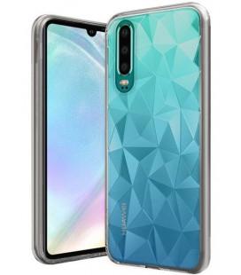 """Skaidrus dėklas Huawei P30 telefonui """"Diamond Case"""""""