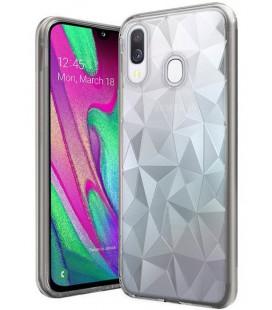 """Skaidrus dėklas Samsung Galaxy A40 telefonui """"Diamond Case"""""""