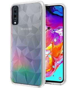 """Skaidrus dėklas Samsung Galaxy A70 telefonui """"Diamond Case"""""""