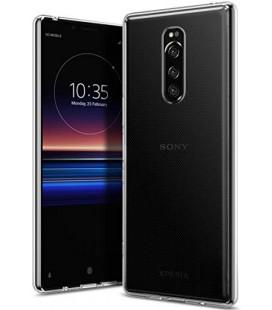 "Skaidrus silikoninis dėklas Sony Xperia 1 telefonui ""Clear"""