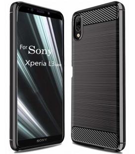 "Juodas dėklas Sony Xperia L3 telefonui ""Tech-Protect"""