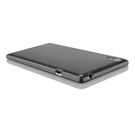 """Juodas silikoninis dėklas Sony Xperia T3 telefonui """"Fitty"""""""