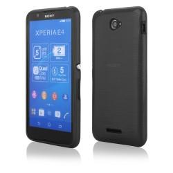 """Juodas silikoninis dėklas Sony Xperia E4g telefonui """"Jelly Metallic"""""""