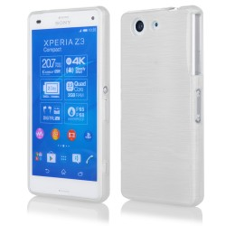 "Baltas silikoninis dėklas Sony Xperia Z3 Compact telefonui ""Jelly Metallic"""