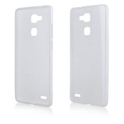 """Skaidrus silikoninis dėklas Huawei Ascend Mate 7 telefonui """"Jelly Metallic"""""""