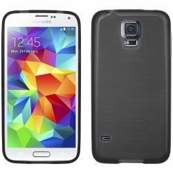 """Juodas silikoninis dėklas Samsung Galaxy S5 telefonui """"Jelly Metallic"""""""