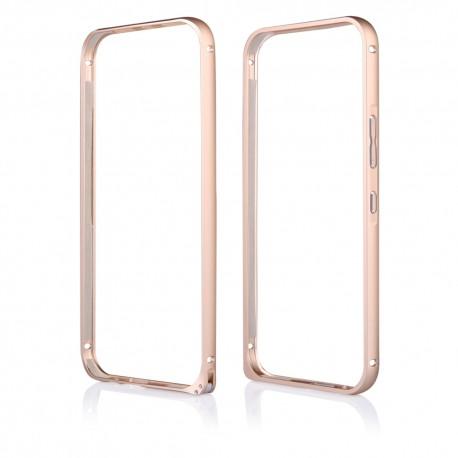Auksinės spalvos metalinis rėmelis - dėklas HTC One M9 telefonui