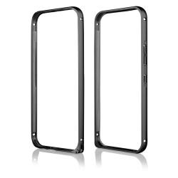 Juodas metalinis rėmelis - dėklas HTC One M9 telefonui