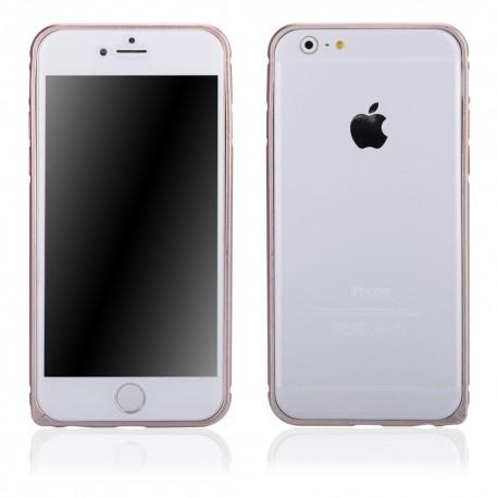 Auksinės spalvos metalinis rėmelis - dėklas Apple iPhone 6 telefonui
