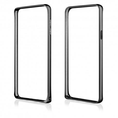 Juodas metalinis rėmelis - dėklas Samsung Galaxy Note 5 N920 telefonui