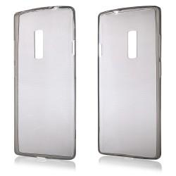 Juodas plonas 0,3mm silikoninis dėklas Oneplus Two telefonui