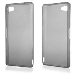 "Juodas silikoninis dėklas Sony Xperia Z5 Compact telefonui ""Fitty"""