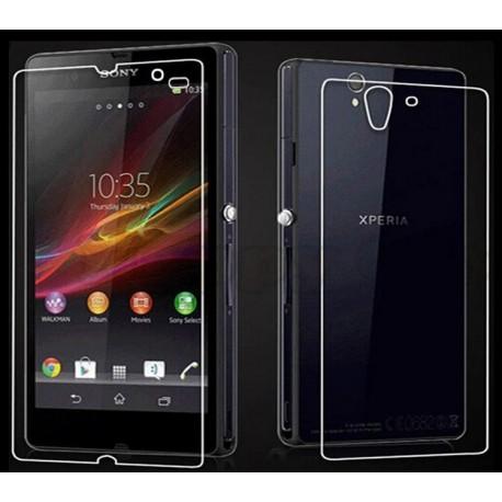 Apsauginiai grūdinti stiklai Sony Xperia Z telefonui (Priekiui ir galui)