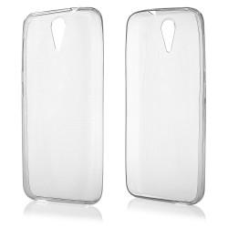 """Skaidrus silikoninis dėklas HTC Desire 620 telefonui """"Fitty"""""""